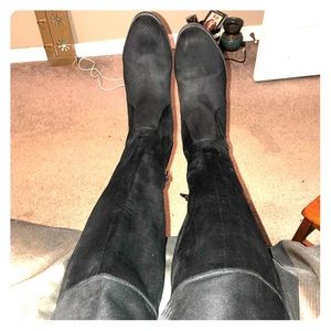 Over the knee boots , Suede